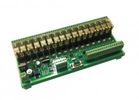 MODEBUS RTU扩展模块 RS485转 16入/16出继电器模